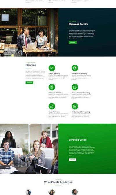 Modèle de site – Affaires